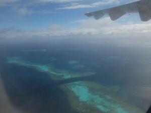 マジャンタ空港からイルデパンまでの飛行機内で撮った写真