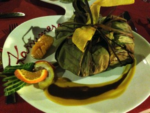 イルデパン島 ウレテラホテルのレストランにて(ブーニャ)