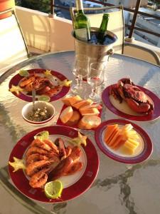 ニューカレドニアでサンセットディナー
