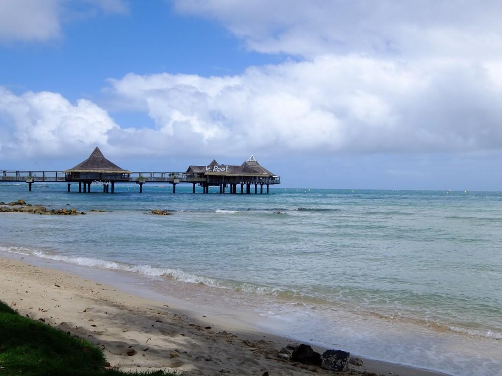 ヌメア アンスバタの浜辺で撮った写真