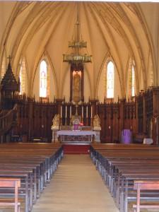 セントジョセフ大聖堂の中@ニューカレドニア(ヌメア)