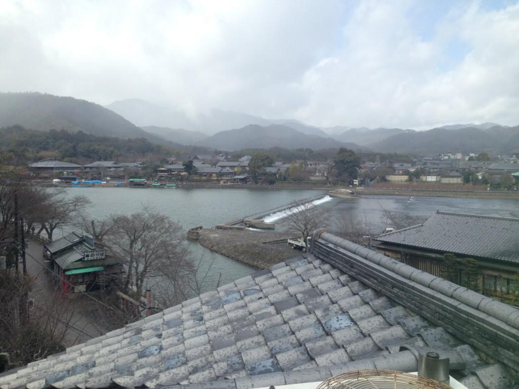 京都 花筏さんの露天風呂から